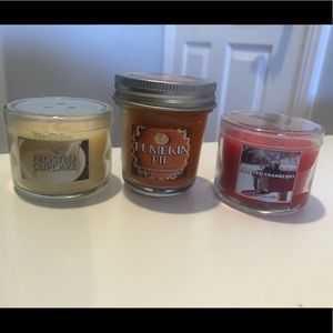 Frosted Cupcake, Cranberry, & Pumpkin Mini Candles